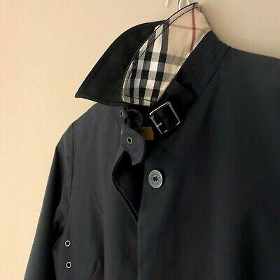 Vintage Burberry ladie's black raincoat - UK8/10 (EU36/38)