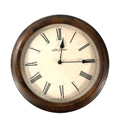 Seth Thomas Young Town Quartz Brown 12 Inch Wall Clock Works & Keeps Time