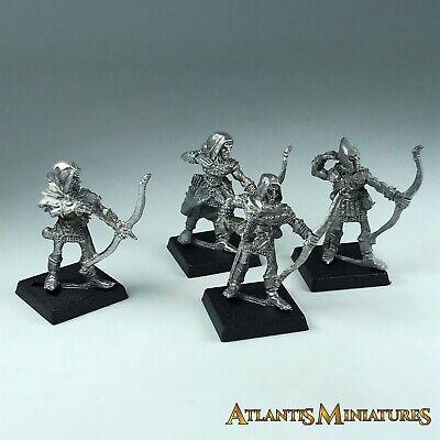 Metal Classic Bretonnian / Wood Elf Archer X4 Warhammer Age of Sigmar X1039