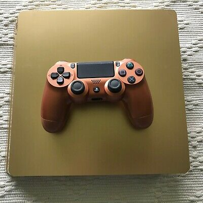 Sony PlayStation 4 PS4 Slim 1TB Gold Console w/ Copper Controller