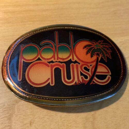 PABLO CRUISE Vintage 1977 Pacifica Belt Buckle Very Good + FREE SHIPPING!