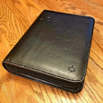 Franklin Covey Compact Zipper - 1 - Black Simulated Leather - Same Day Shipping