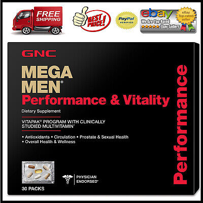 GNC Mega Men Performance & Vitality Vitapak *BEST