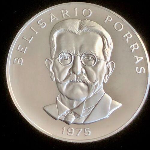 "1975 PANAMA SILVER 5 BALBOAS ""BELISARIO PORRAS"" ULTRA FROSTED PROOF"