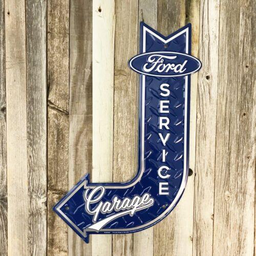 "Ford Service Garage Pony Embossed Arrow Metal Tin Sign 18"" Vintage Garage New"