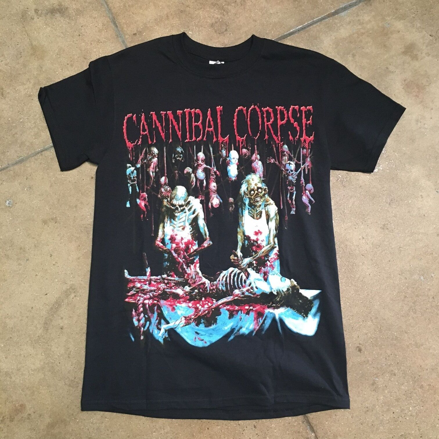 Cannibal Corpse Butchered At Birth Shirt Thrash Death Metal Meshuggah