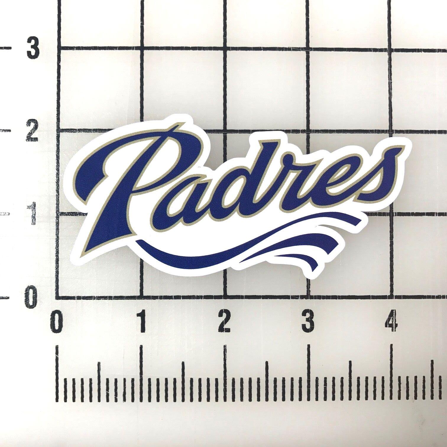 "San Diego Padres MLB 4"" Wide VInyl Decal Sticker - BOGO"