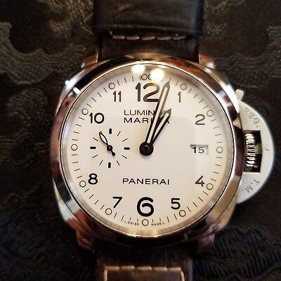 PANERAI PAM 499 STEEL 44 mm LUMINOR MARINA 1950 WHITE DIAL