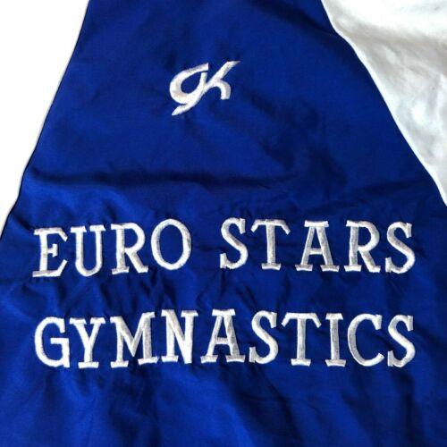 Rare Vintage Gymnastics Coach Womens Blue White Full Zip Track Jacket 80s