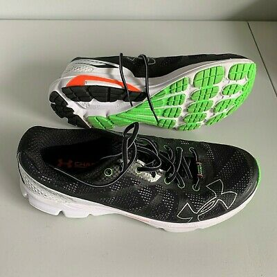 Under Armour Men's Charged Bandit Running Shoe Size 10.5 BLACK NEON GREEN