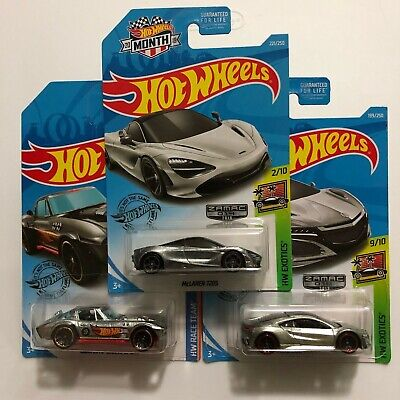 Hot Wheels Zamac - McLaren 720S - Corvette Grand Sport - Acura NSX - $10.99