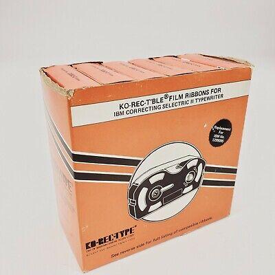 6 Ko-rec-type Film Ribbons Ibm Correcting Selectric Ii Typewriter 1299095 New