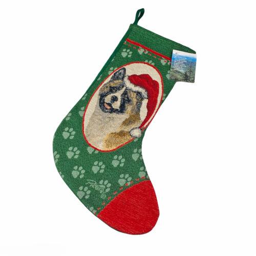 Akita Tapestry Christmas Stocking ~ Artist, Linda Picken