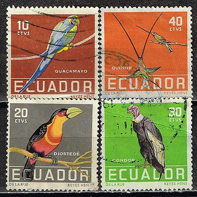 ECUADOR TROPICAL FAUNA BIRDS STAMPS 1960