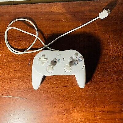 Nintendo Wii Brand Classic Controller Pro WHITE RLV-005 (-02) SANITIZED