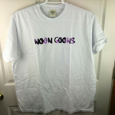 New NWOT Men's Noon Goons Logo Leopard T-Shirt Purple White Size XL