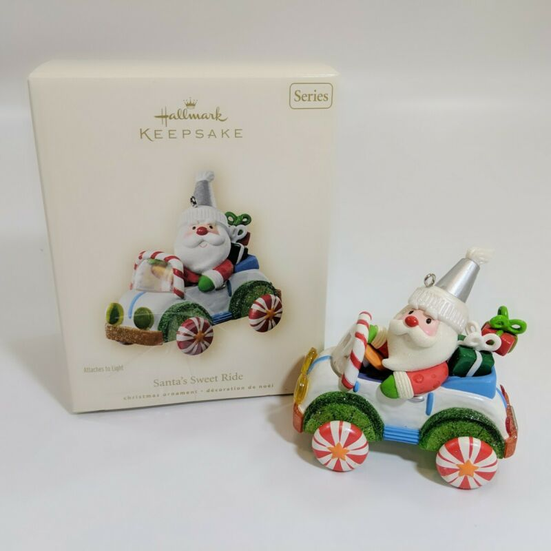 2007 Hallmark Keepsake Ornament Santa's Sweet Ride Santa Claus Light 1 In Series
