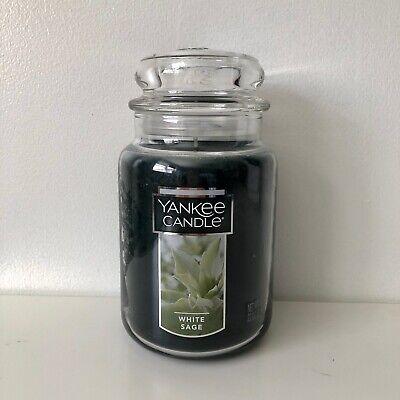 Yankee Candle ~ WHITE SAGE ~ 22oz Large Jar *Free Expedited Shipping*