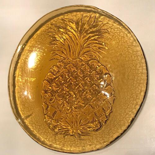 Blenko Amber Glass Pineapple Platter