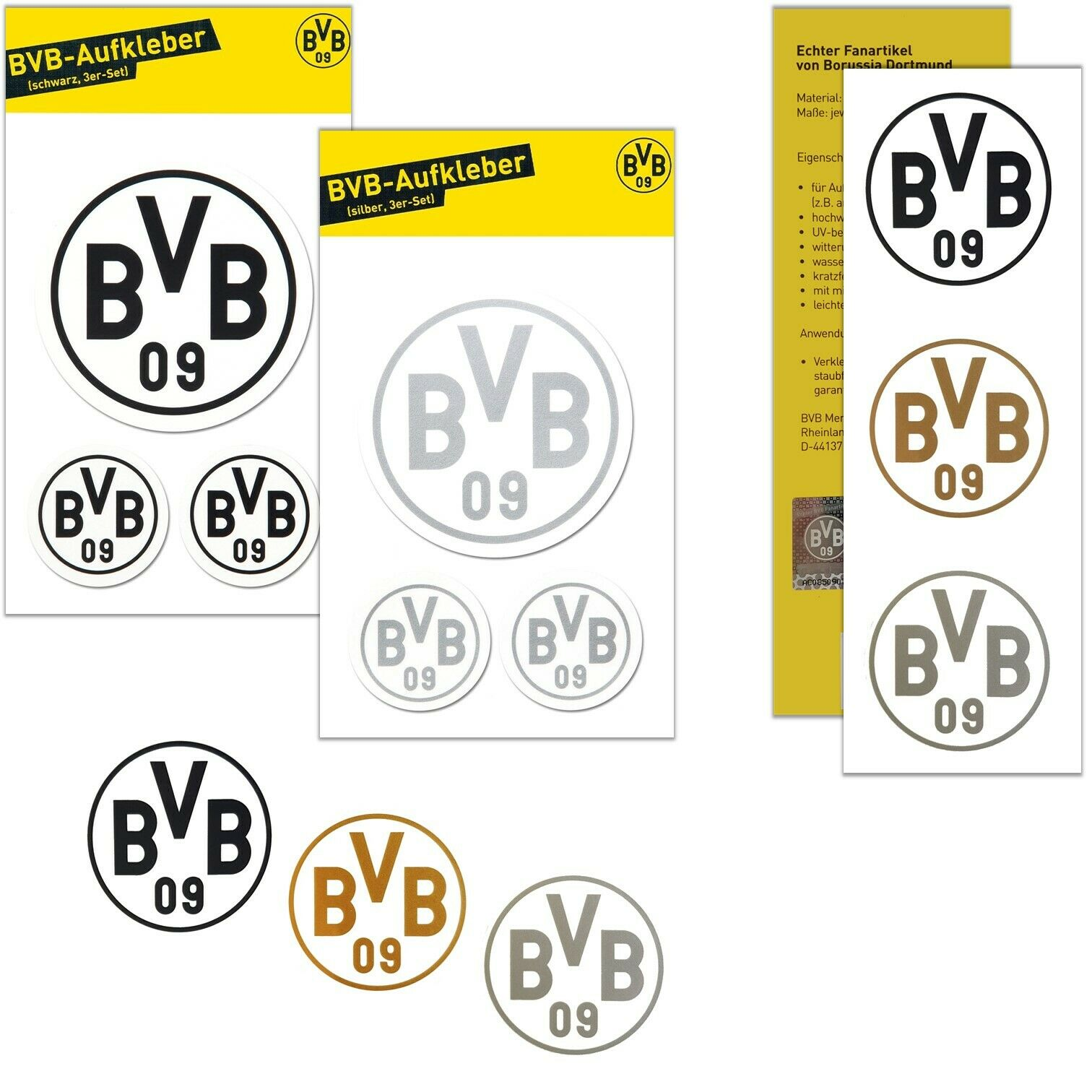 Fanartikel a/´125 g B/älle - Schokob/älle-Dose - Schoko Logo Fu/ßball BVB 09-3 x BVB-Schokoladenfu/ßb/älle Weihnachten 2019 4,24 /€ // 100 g Liga