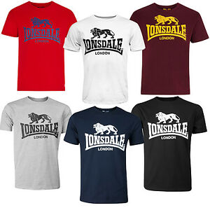 Lonsdale-Classic-Logo-Lion-T-Shirt-Black-Grey-Blue-Oxblood-White-Red-XS-3XL