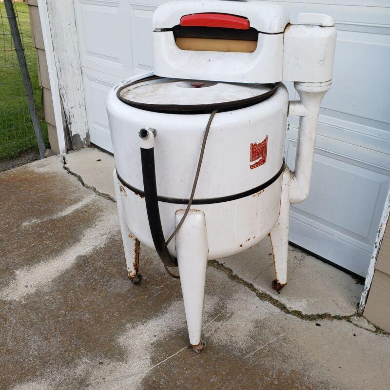 VINTAGE MAYTAG WRINGER WASHER ELECTRIC WASHING MACHINE MODEL N2L