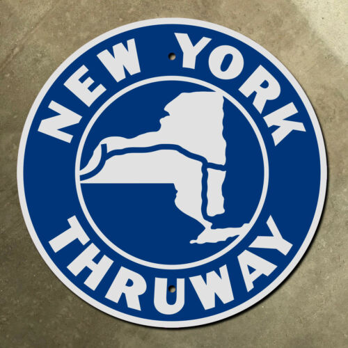 New York State Thruway highway marker road sign route shield 1954