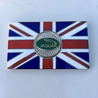 Self Adhesive Pair of MORRIS Union Jack GB Brass Enamel Classic Car Badges