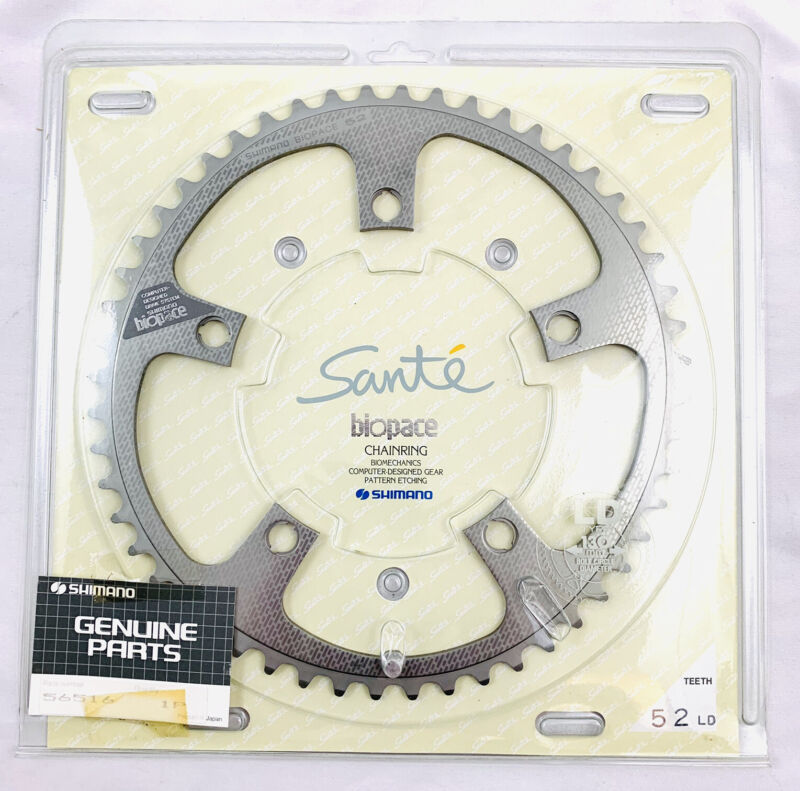 Shimano Sante 52T Biopace LD NEW / NOS Chainring Oval 130bcd