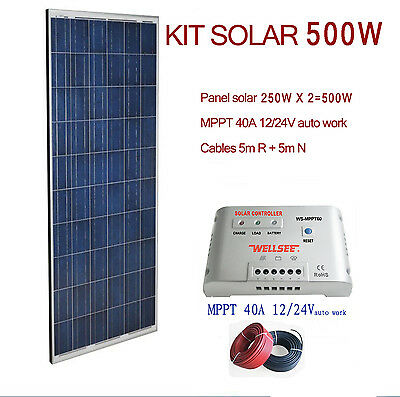 Kit Solar 500W 24V Panel fotovoltaico