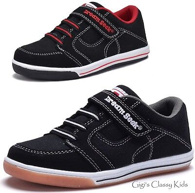 New Boys Black Canvas Tennis Shoes Athletic Sneakers Toddler Youth Kids - Kids Athletic Shoes