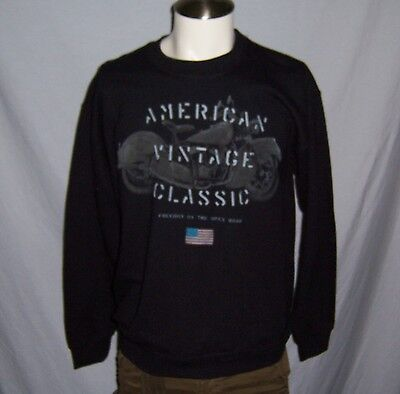 Puritan Vintage Classic Indian Style Motorcycle Men's Sweatshirt Size S-m-l