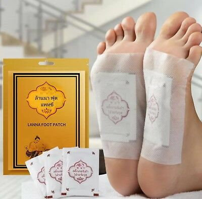 THAI LANNA FOOT Patch Natural Herb Detox Foot Cleansing Health Care 10 pcs/ pack