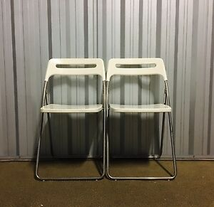 2 x Folding Dining Table / Kitchen chairs Artarmon Willoughby Area Preview