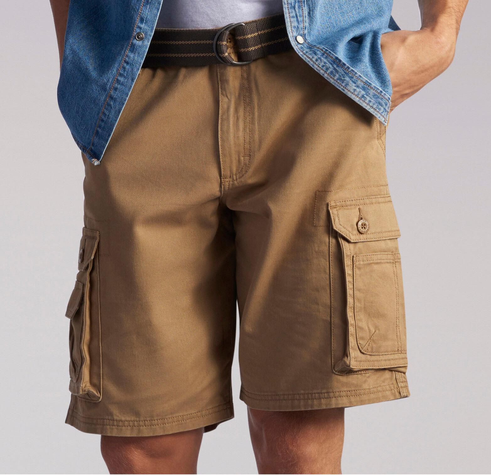 Mens Lee Dungaree Wyoming Cargo Shorts Pants Bourbon Big Tal