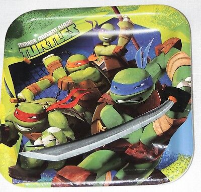 TMNT Ninja Turtles Party Supplies-Lunch Plates-8ct. ()