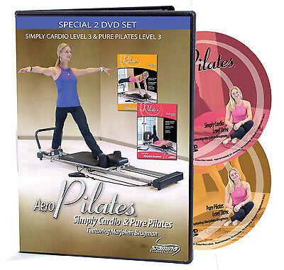 AeroPilates 2 DVD Workout Set w/Marjolein Brugman, Level 3 New 05-9125, 05-9127D