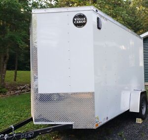Enclosed Trailer with Electric Brakes - Wells Cargo 6x10 2018