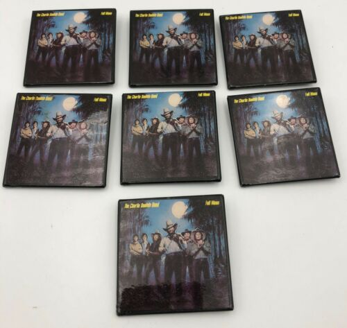 (7) The Charlie Daniels Band Vintage Music Buttons Full Moon Album Pinbacks