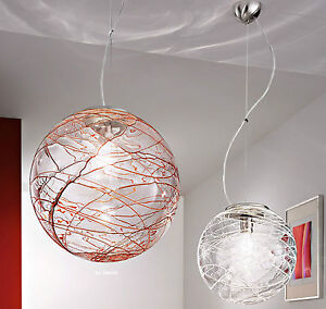 Lampadario moderno acciaio cromo cristallo lampada sospensione soggiorno cucina ebay - Lampadari cucina moderni ...
