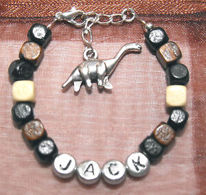 Boys-Personalised-Any-Name-Wooden-Bead-Bracelet-Gift