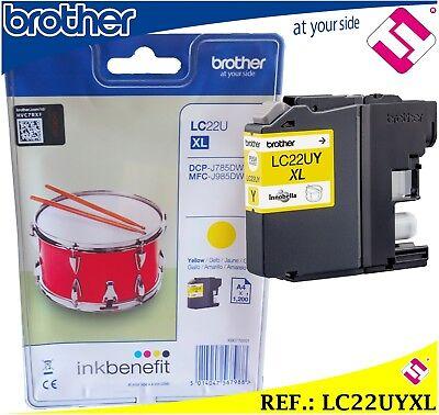 Format Tinte Gelb (TINTE LC22UY XL GELB ORIGINAL PATRONE GELB DRUCKER BROTHER FORMAT XL)