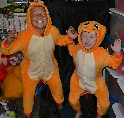 Children's Pokemon Costumes (Charmander Charizard Pokemon Halloween Costumes Kids Size 10-11-12 L Boys)