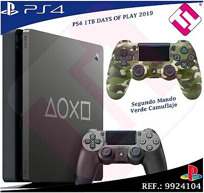 Days of Play PS4 1TB 2019 PLAYSTATION 4+ Second Remote Green Camo Military