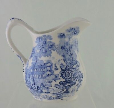 ANTIQUE BLUE WILLOW CREAMER ENGLAND ASIAN CHINESE JAPANESE SCENIC TRANSFERWARE  Chinese Blue Willow