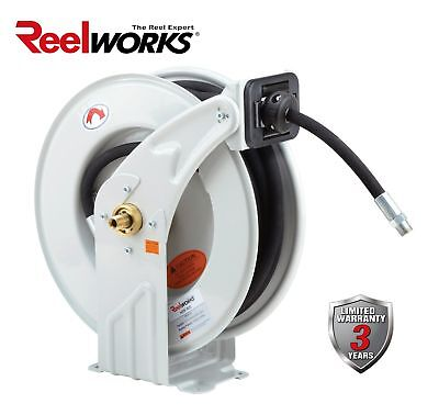 Reelworks Heavy Duty Oil Spring Driven Hose Reel 12 X 50 Ft. S.a.e -dual ...