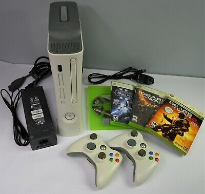 Xbox 360 Bundle - 20GB HDD/4 Games/2 Controllers/PC Controller-Wireless Adapter!