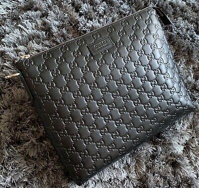 Gucci Signature 473881 Black Soft Unisex Bag - Excellent Condition