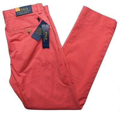 Polo Ralph Lauren 9808 NEW Men's Nantucket Red Stretch Straight Fit Pants $89.50