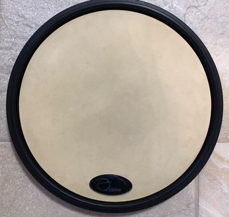 OffWorld Percussion Invader V3 Gum Rubber Practice Pad Black Used Good Condition